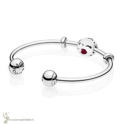 Catalogo Pandora Cute Bacio Open Bangle Regalo