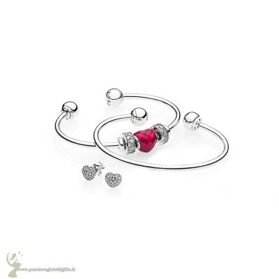 Catalogo Pandora Be Mine Stacked Open Bangle Regalo