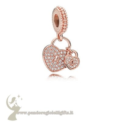 Catalogo Pandora Amore Locks Dangle Charm Pandora Rose Chiaro Cz